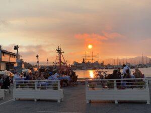 dinner near the dock