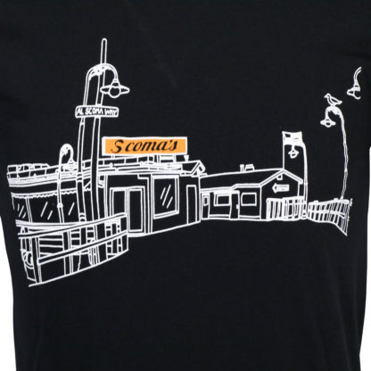 T shirt black Pier view