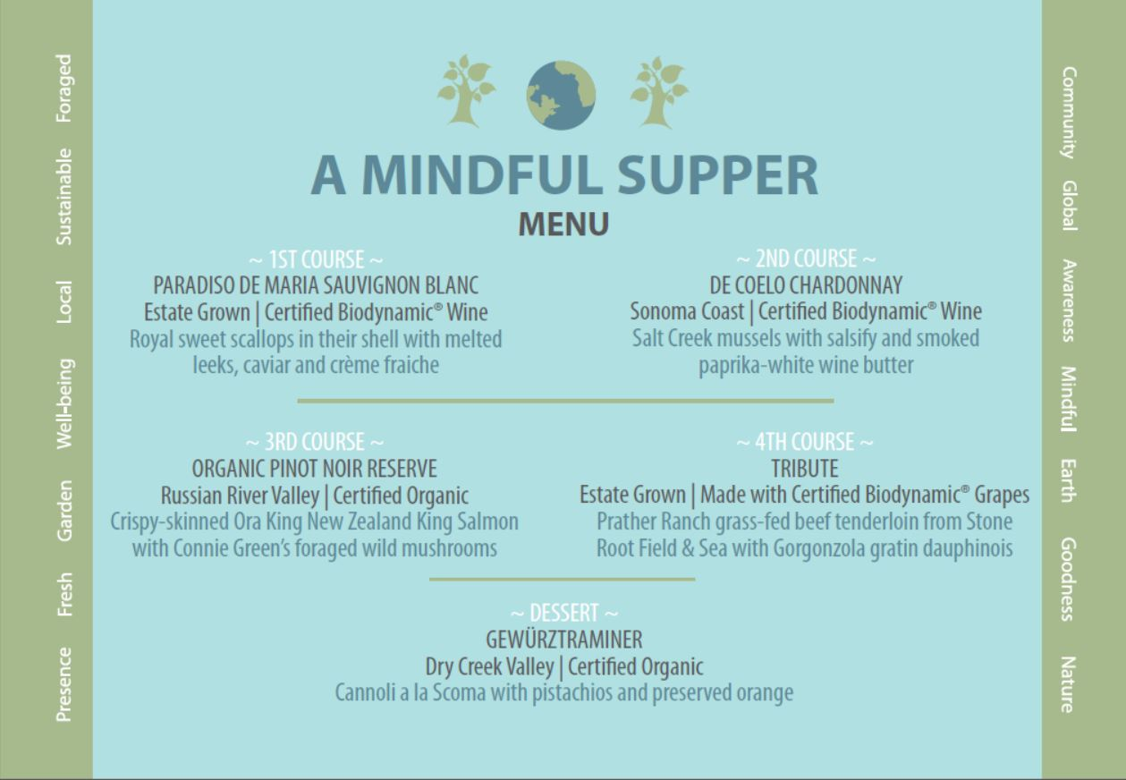 mindful supper menu blog